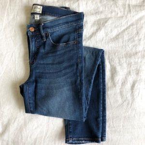"J.Crew | 8"" Toothpick Jeans in Lyric Wash 27 EUC"